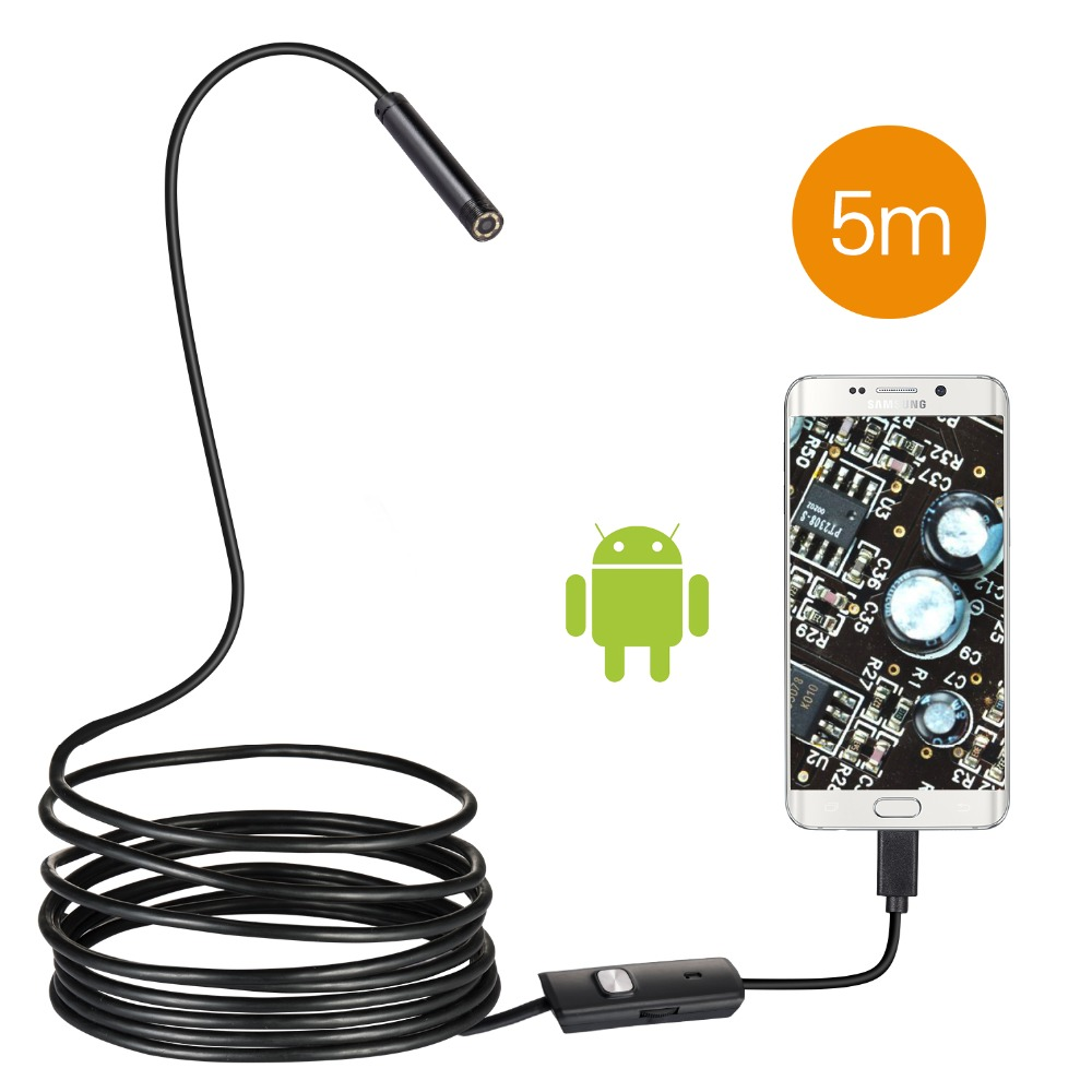 Borescope Camera 5.5mm Len Inspection Pipe Android Endoscope 1M 2M USB Cable Searching Thing Camcorder IP67 Waterproof Camera