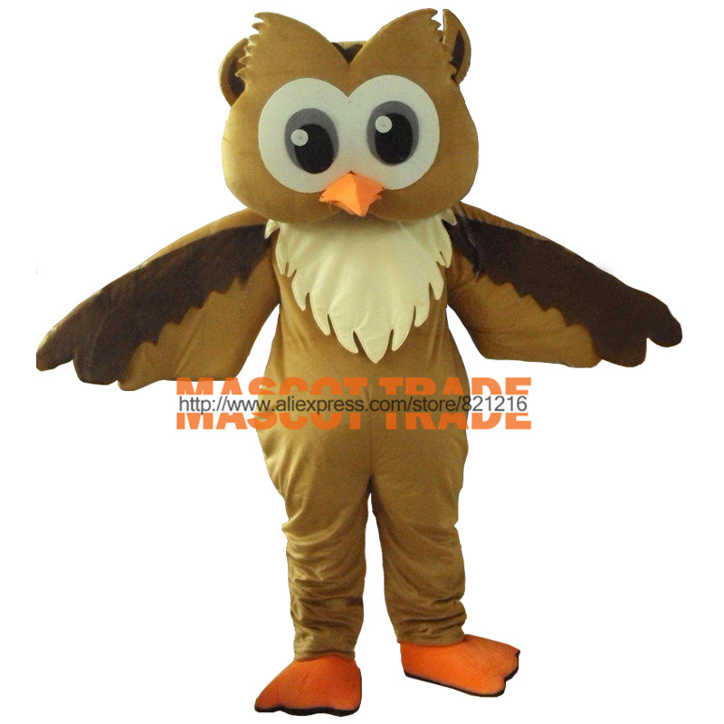 Professional New Style Big Grey Owl Mascot Costume Fancy Dress