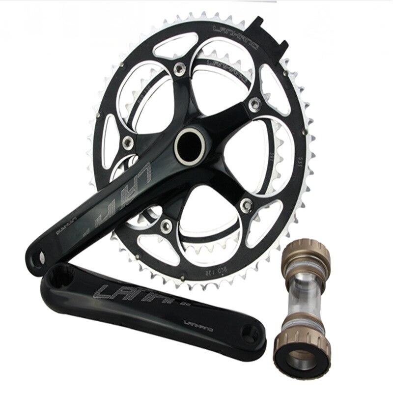 2018 Hot Sale 8 9 10 Speed Bike CNC Crank 39-53T 172.5mm MTB Bicycle Chainwheel with NECO BB Screw-in Integrated Center Shaft запчасть neco neco педали