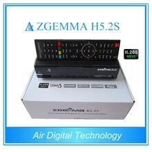 2 pcs/lot Nouveau H.265 Moduel ZGEMMA H5.2S BCM73625 Dual Core DVB-S2 + DVB-S2 Twin Tuners Satellite Récepteur avec HEVC/H.265