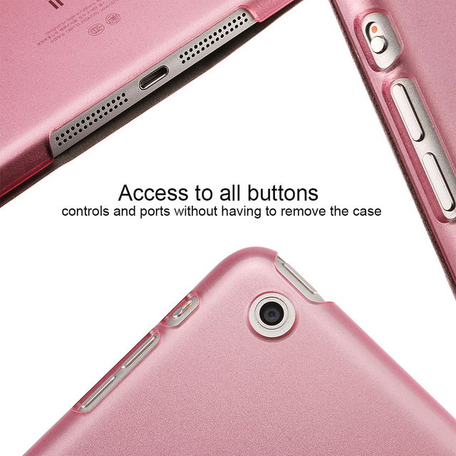 Ultra Slim Smart Flip Stand PU Leather Cover Case For Apple iPad Mini 1 2 Retina Display Wake Up/Sleep Function