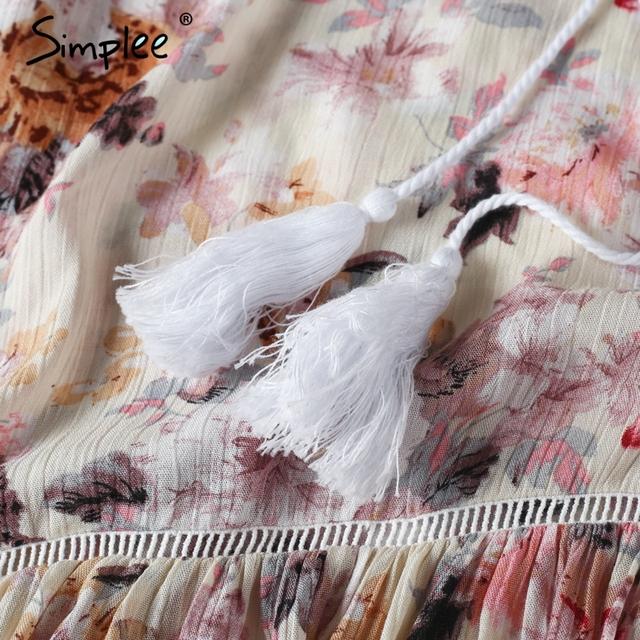 Simplee Boho butterfly sleeve print dress women Summer off shoulder two-piece suit long dress Asymmetrical beach sexy dress
