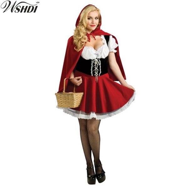 Plus la Taille S 6XL Adulte Petit Chaperon Rouge Costume Femmes Halloween  Fête De Noël Cosplay Fantaisie Robe de Haute Qualité dans Costumes de  vacances ... c7ca708904e