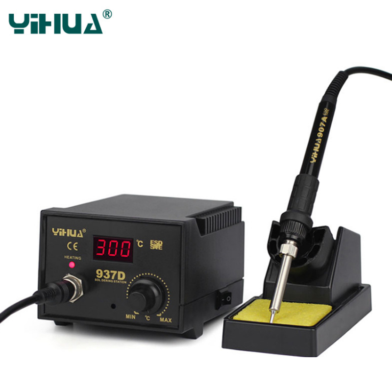 YIHUA 937D Soldering iron BGA Rework Soldering Station Adjustable Temperature Electric Soldering Iron 220V 110V Soldering iron yihua 926 soldering iron station soler iron