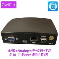 OwlCat 4Ch Super Mini CCTV AHD DVR 1080N Hybrid DVR NVR 5 in1 SD Video Recorder Mini XVR For 1080P AHD IP Analog CVI TVI Camera