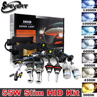SPEVERT 55 W Xenon Hid Conversion Kit H1 H3 H7 H8 H9 H11 9005 HB3 H10 9006 HB4 880 881 H27 5202 H16 3000 k-12000 k Lampadine reattori