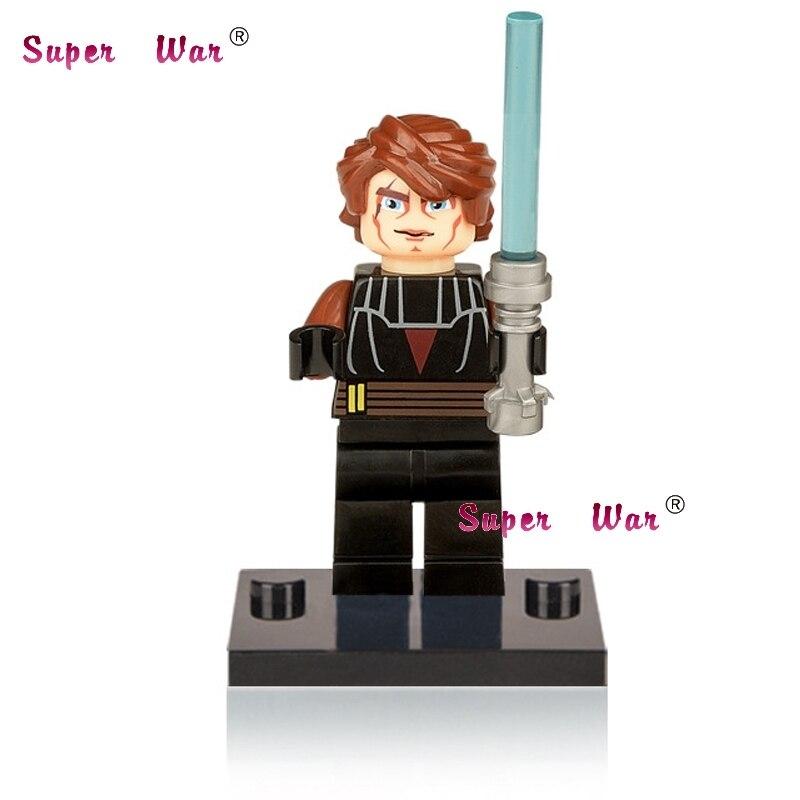 1PCS star wars superhero marvel avengers Anakin building blocks action sets model bricks toys for children