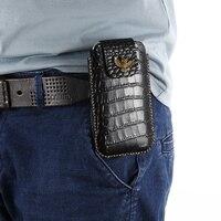 for LG K10 2018 K11 Plus K30 K9 K8 Phoenix 4 Q8 Rebel 3 Case Genuine Leather Holster Belt Clip Phone Cover Waist Bag Handmade