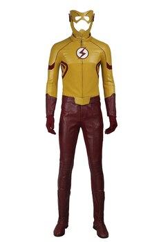 Flash TEMPORADA 3 niños Flash Wally West Cosplay traje personalizado traje completo sin botas ropa de Halloween envío gratis