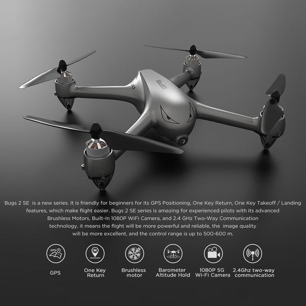Quadcopte sans brosse de Drone de maintien d'altitude de GPS d'appareil-photo de MJX B2SE 5G WiFi FPV 1080 P