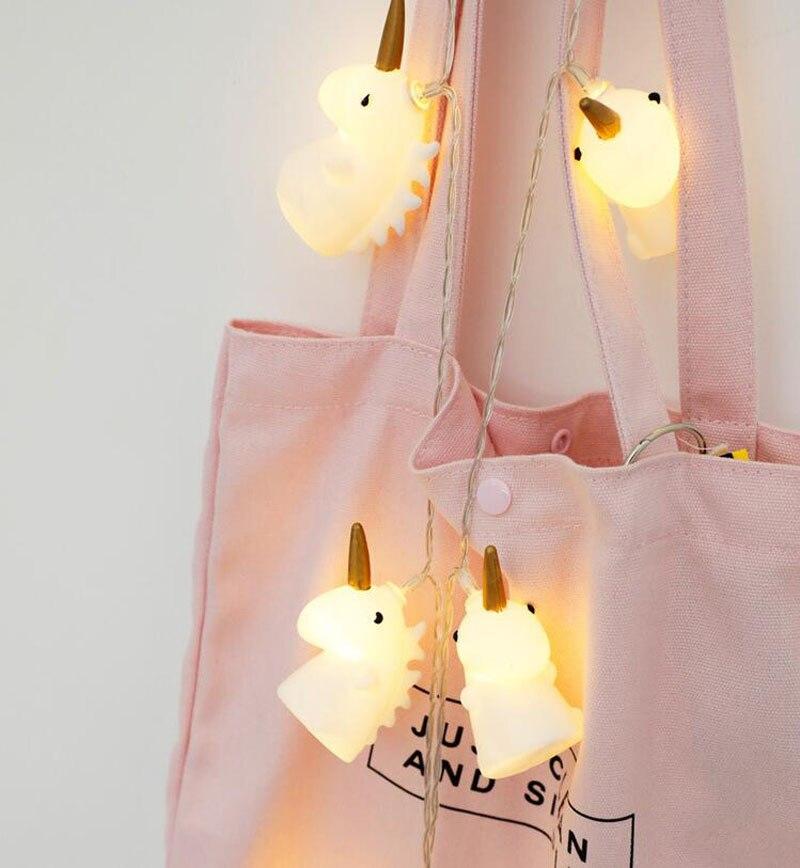 1pcs Lot Christmas Tree Toppers Decorate Lamp String Unicorn Mini