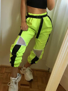 Nibber Straight Pants Spring Streetwear Loose Neon High-Waist Wide Casual Women's Fashion