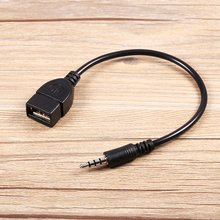 Converter Adapter Cable 3.5mm Male Audio AUX Jack to USB 2.0 Type A Female OTG for Play Music in Car with High Quality