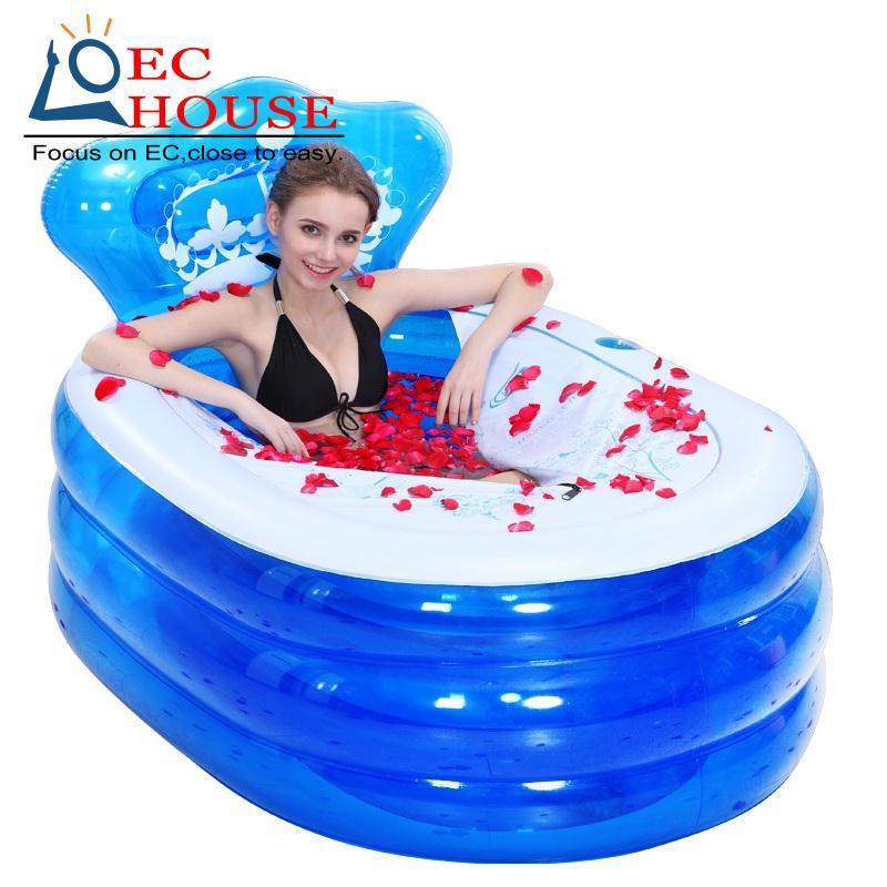 hh erin ispessimento gonfiabile per adulti pieghevole vasca da bagno di trasporto liberochina