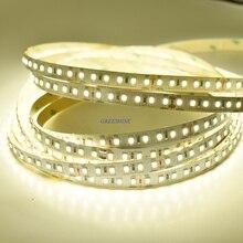 2400LM/M яркая 2835 Светодиодная лента, 12 В 24 в белый/теплый белый 120 светодиодный s/m гибкая подсветка натуральный белый цвет не водонепроницаемый 30 м/лот