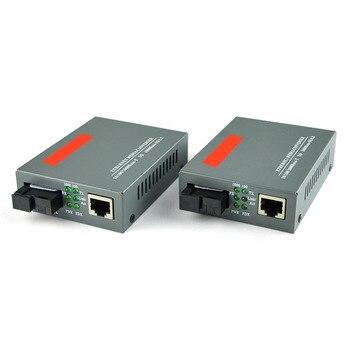 Gigabit Ethernet convertidor de medios 1,25 Gb/s único modo SC de fibra de 1000Base-FX a 10/100/1000Base-TX hasta 20 km 1 par