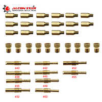 Alconstar- 10pcs Set Slow/Pilot Jet Or Main Jet For PWK Keihin OKO CVK Mikuni KOSO Motorcycle Carburetor Vice injectors Nozzle