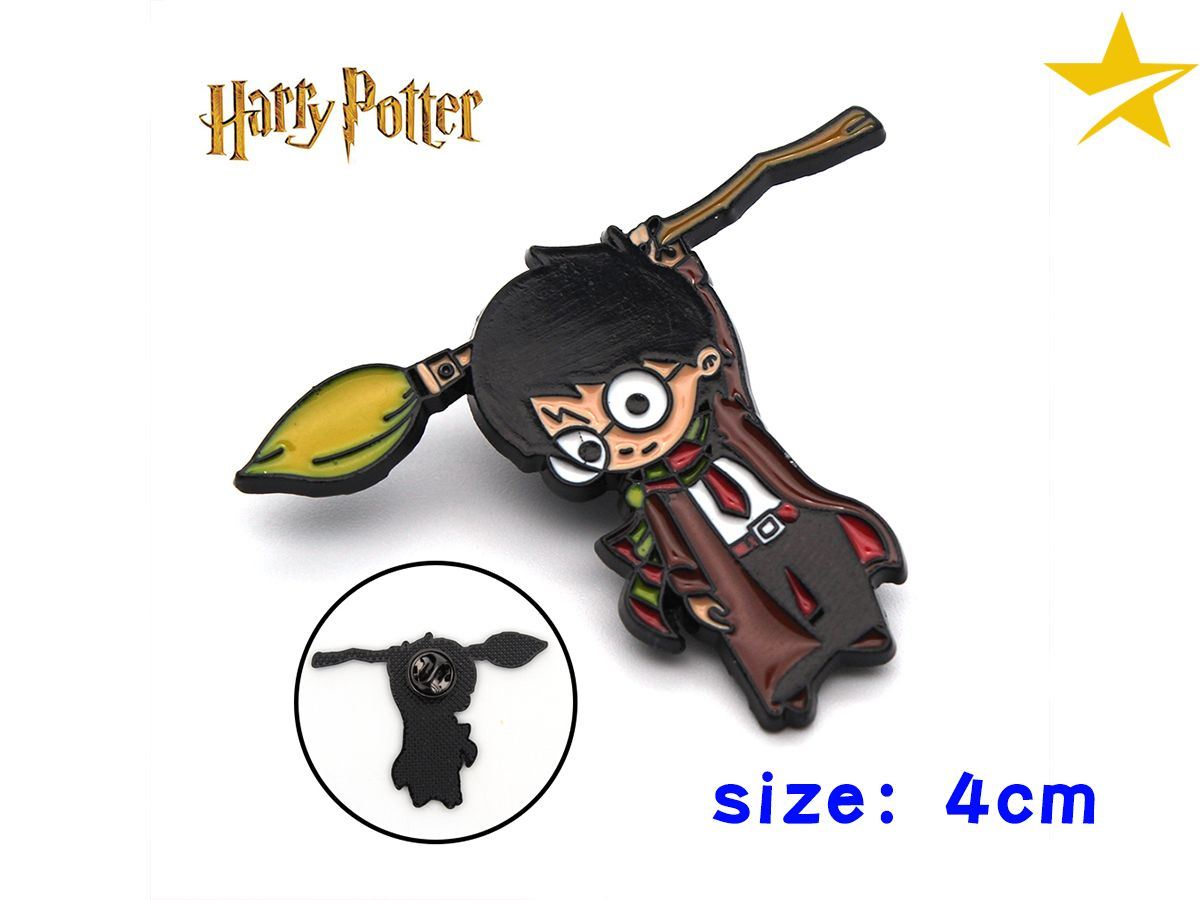 Giancomics Harri Potter Badge Hot Movie Series Pin Button Badges Pins Brooch Chestpin Costume Backpack Ornament Otaku Decor
