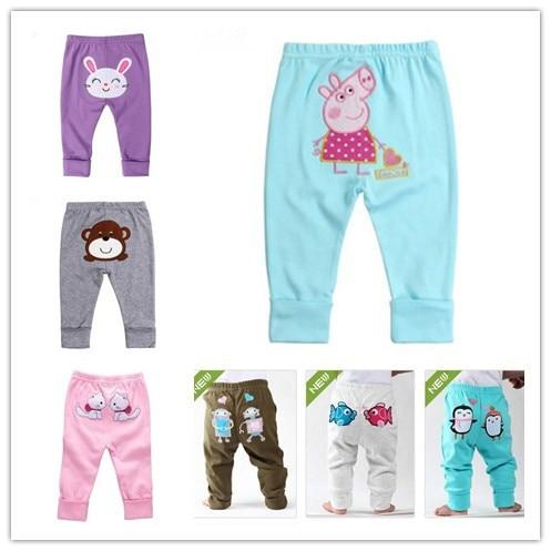 HOT Kids Funny 2014 Autumn Winter 100% cotton Baby pants cartoon animal PP Pants baby leggings - Landmark store