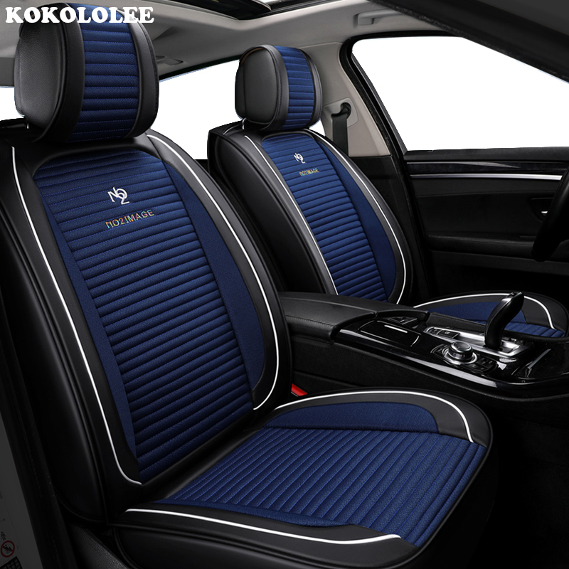 KOKOLOLEE Front Rear Car Seat Cover Universal auto seats covers for isuzu d max faw R7 v5 CX65 A50 D60 N5 A70 N7 S80 Accessories