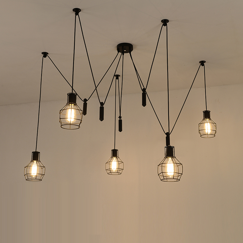 modern contemporary pendant lighting. unique pendant aliexpresscom  buy spider pendant light led black hanging  lamp cord lights ajustable contemporary lamps from  in modern lighting r