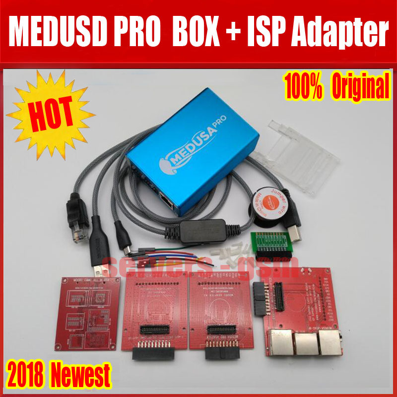 100 ORIGINAL Medusa PRO Box Medusa Box ISP 3 in adapter JTAG Clip MMC For LG