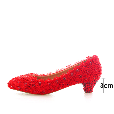 Lace with crystal low heel shoes for wedding rhinestone heels women wedding shoesLace with crystal low heel shoes for wedding rhinestone heels women wedding shoes