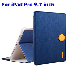 For Apple iPad Pro 9.7″ case Cover Fashion Business High Quality TPU+PU Leather Protective Skin Tablet Accessories Cover+Gifts