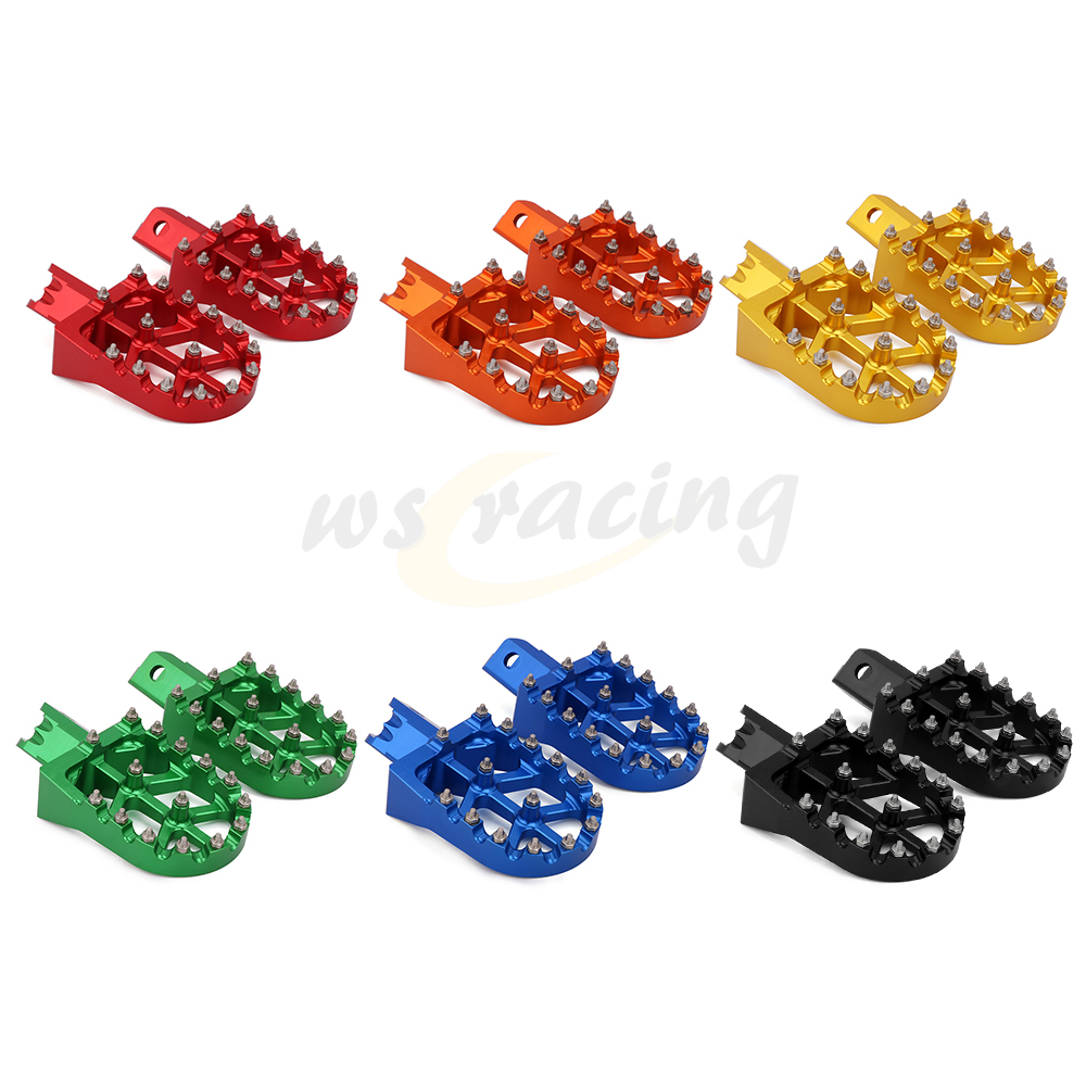 Motorcycle CNC Foot Pegs Pedals Rest Footpeg For Honda CRF XR 50 70 110 Chinese Pit Bike Orion Lucky MX Thumpstar KAYO