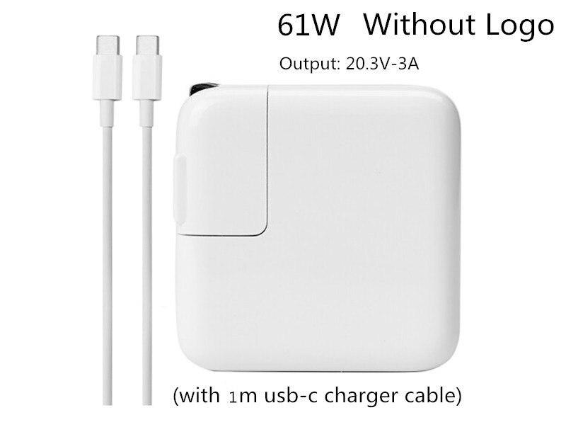 Neue Ankunft 20,3 v 3A 61 watt Typ C USB-C Power Adapter Ladegerät Für Neueste Macbook Pro 13 zoll A1706 a1707 A1708A A1718 Made In 2016