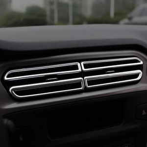 Image 2 - Tonlinker الداخلية لوحة منفذ غطاء ملصقات Citroen C Elysee/بيجو 301 تصفيف السيارة 8 قطعة ABS كروم غطاء ملصقات