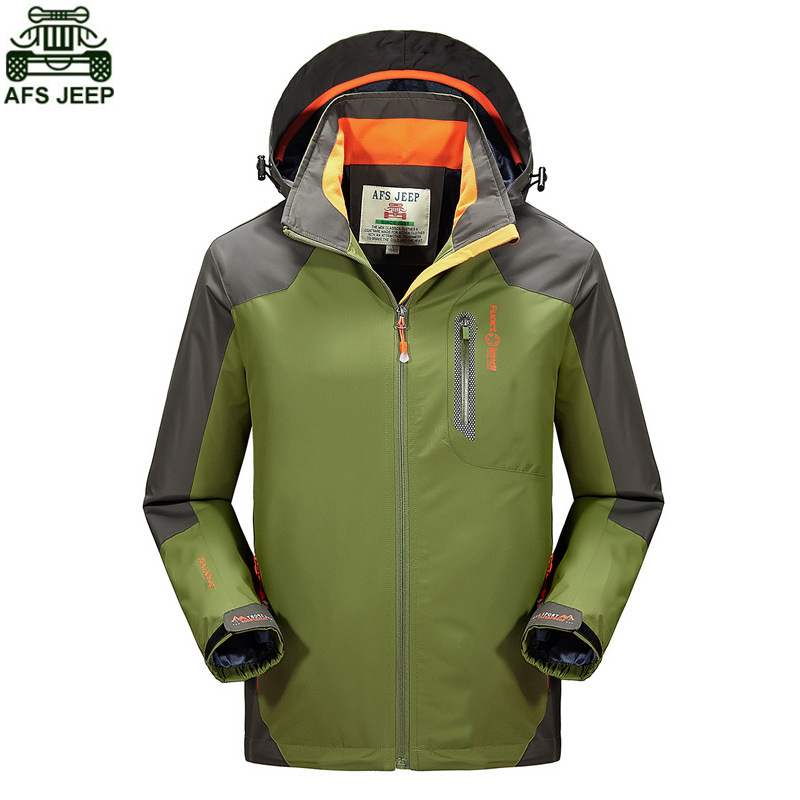 Фотография AFS JEEP Brand Men Camping Hiking Outdoor Fishing Climbing Clothing Hunting Clothes SoftShell Jacket Waterproof Windproof Hoodie