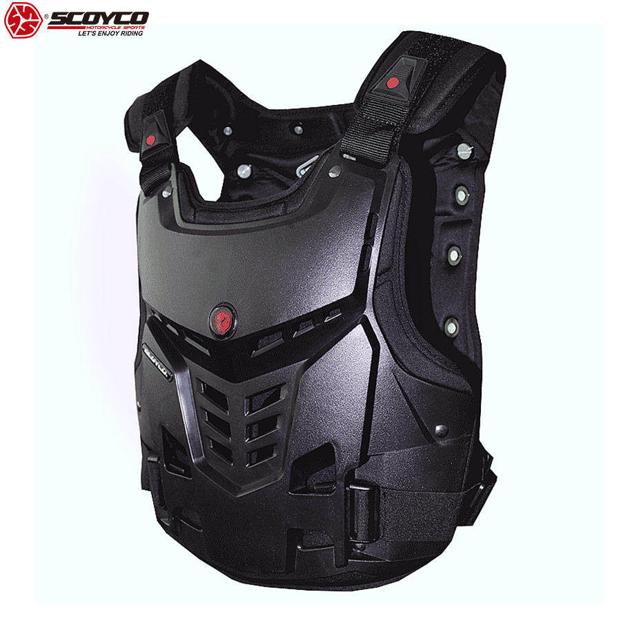 SCOYCO 21 Motorcycle Armor Chest Protector Support Shockproof Shell Protective Breathable Amor Chest Guard Gear Equipment AM05