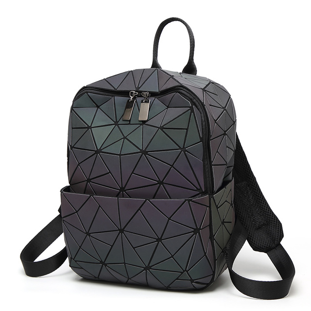 aca4a8a31ac8 US $69.89 |New Laser Unisex Luminous Backpack for Student Dazzle Color  Fashion Small Travel Bag School Backpack Fashion and Unique -in Backpacks  from ...
