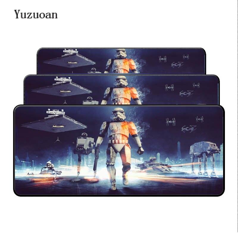 Yuzuoan Звездные войны 900x400x3 см XL большой игровой Мышь Pad Grande Мышь pad клавиатура, коврик стол подушки мальчик подарок на день рождения замок края