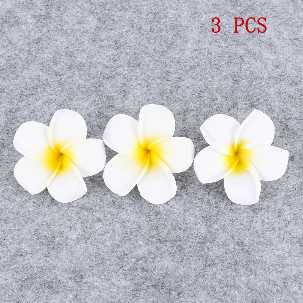 3 Pcs Hawaii Simulation Flower Hair Clip Hairpin Egg Flower Headdress For Beach Wedding Party Hair Accessories