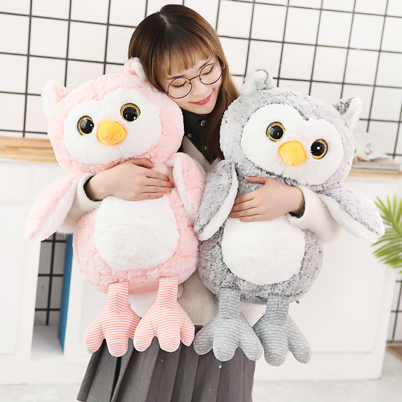1pc 35/45/65CM New Creative Kawaii Owl Plush Toy Stuffed Owl Animal Doll For Kids Baby Lovely Soft Pillow Birthday Xmas Gift