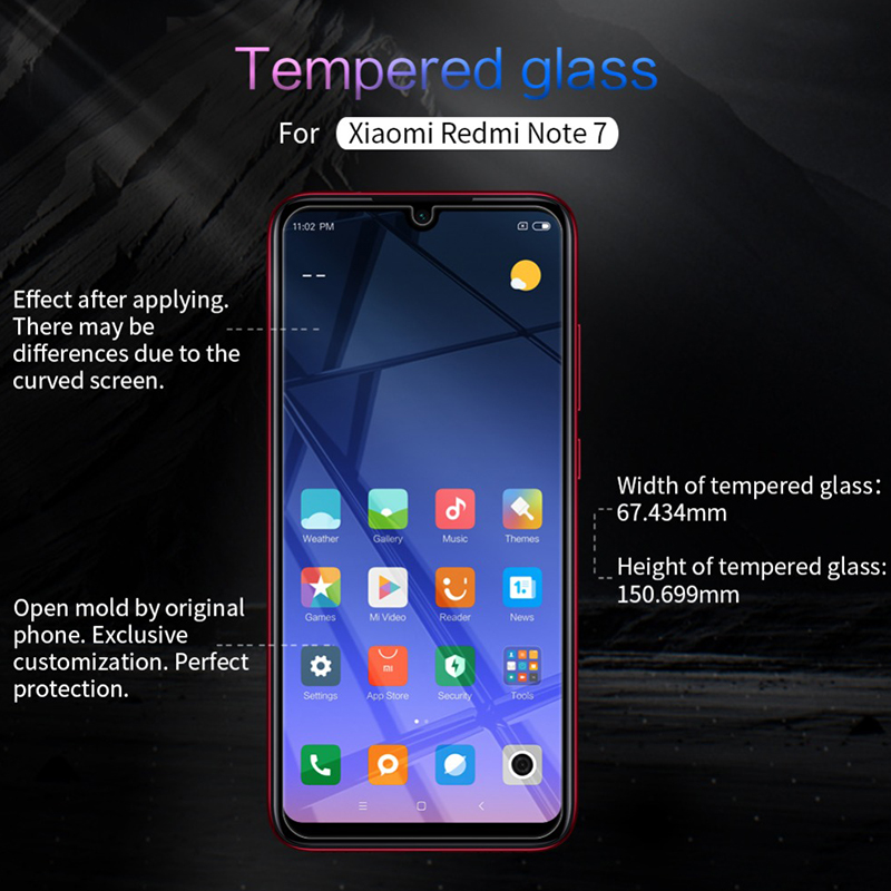 2 Pieces Tempered Glassfor Xiaomi Redmi Note 7 Screen Protector Pro on Redmi Note 7 Protective Glass for Redmi Note 7 pro film in Phone Screen Protectors from Cellphones Telecommunications