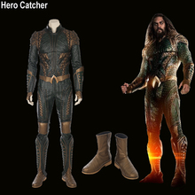 Hero Catcher High Quality Movie Aquaman Costume Aquaman Cosplay Costume 2018 Aquaman Suit Blue Aquaman Costume