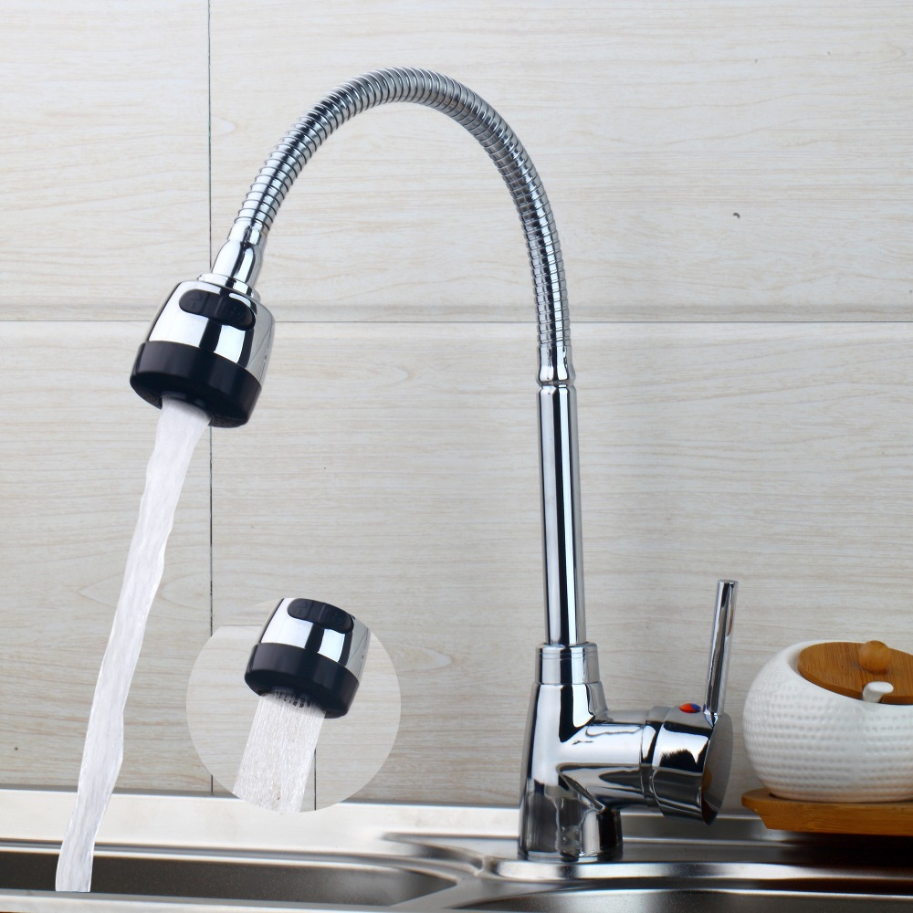 Torayvino Superior in Quality and Reasonable in Price Kitchen Faucet Chrome Polished Basin Faucet Hot and