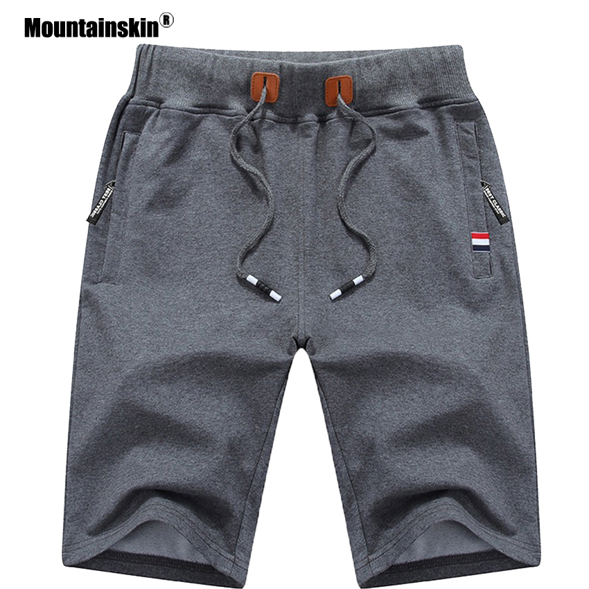 Mountainskin 2019 Solid 6XL Summer Mens Beach Shorts Cotton Casual Male Shorts homme