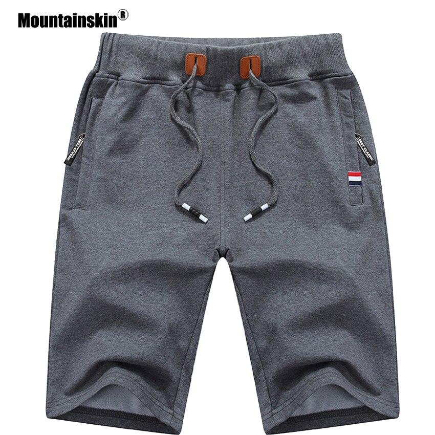Mountainskin 2020 shorts masculinos sólidos 6xl verão dos homens calções de praia algodão casual masculino shorts homme roupas marca sa210