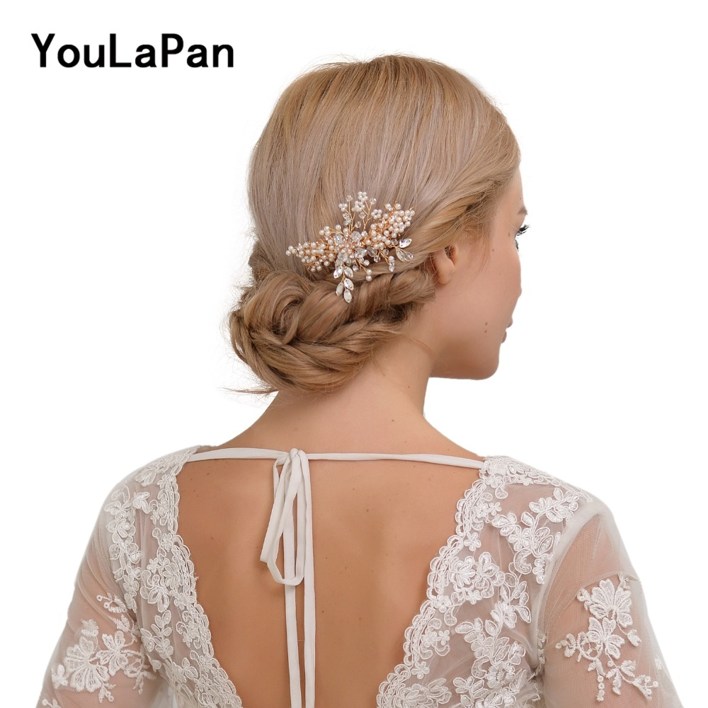 us $9.79 |youlapan hp44 bridal tiara bridal combs bridal wedding hair accessories crystal wedding hair jewelry wedding hair comb-in bridal headwear