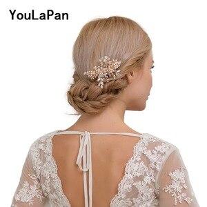 YouLaPan HP44 Bridal Tiara Bridal Combs Bridal Wedding Hair Accessories Crystal Wedding Hair Jewelry Wedding Hair Comb(China)