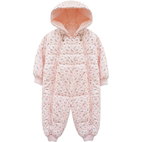 Yingzifang Baby Girl Clothing Baby Winter Hooded Rompers Infant Cute Floral Clothes Newborn Baby Infant Spring