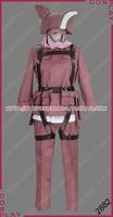 Sword Art Online Gun Gale Online Fatal Bullet Kohiruimaki Karen LLENN Pink Devil Uniform Outfit Game Cosplay Costume S002