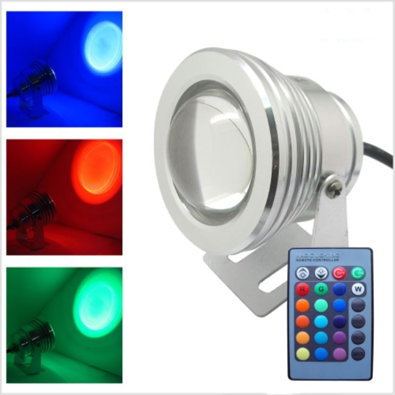 Lights & Lighting Ip67 Waterproof Underwater Lights 10w Ac/dc 12v Rgb Led Swiming Pool Light Also For Garden Pond And Fountain Outdoor Lighting Colours Are Striking Led Underwater Lights