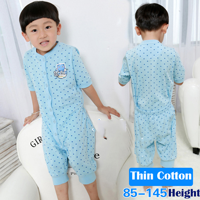 6ebf27bbe8 Cotton Boys Pyjamas Kids Solid Blue Stars One-Piece Special Romper Baby For  Toilet Short Sleeve Summer Boys Pajamas