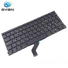 Russian A1425 keyboard with backlight for Macbook Pro Retina 13.3 inches laptop MD212 MD213 keyboards with backlit Brand New