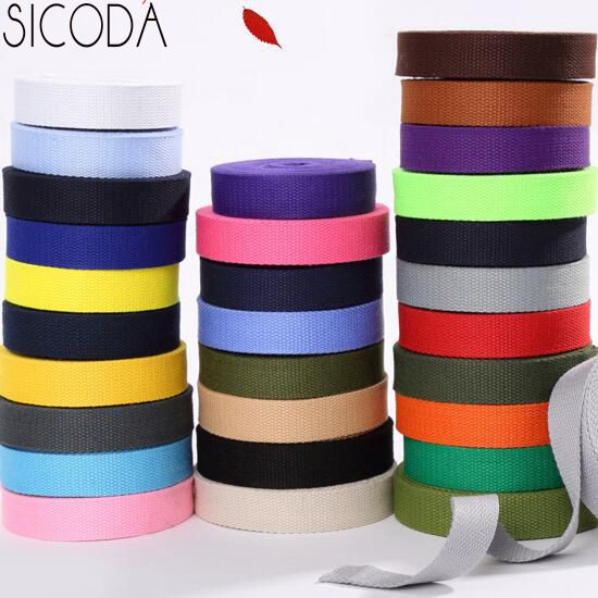 Sicoda 25 мм 10 метров DIY Швейные холст ленты, тесьма/lable ленты/косая бейка для рюкзак сумка ремешок сумки ручка